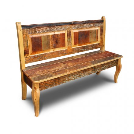 Barnwood French Bench