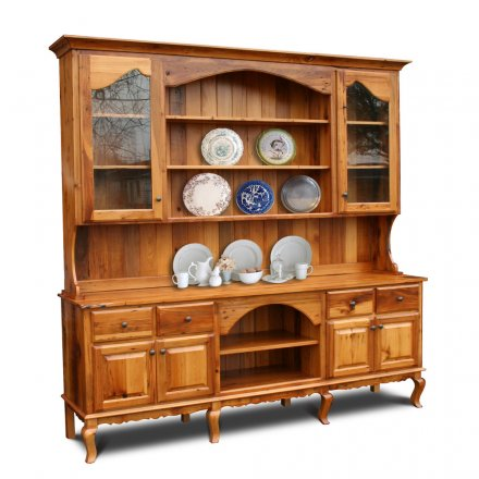 Barnwood French 2 pc Hutch