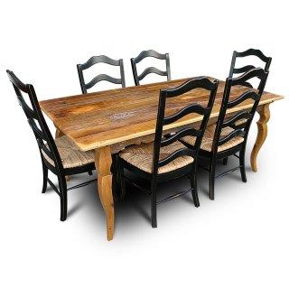 Barnwood Sabre Leg Table