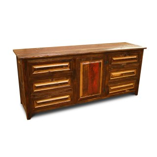 Barnwood Server w Raised Panel Drawers