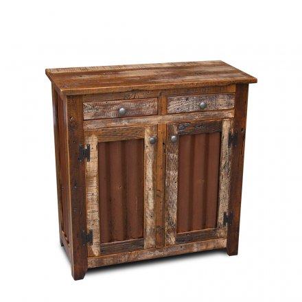Barnwood Shaker Sever w Tin Doors