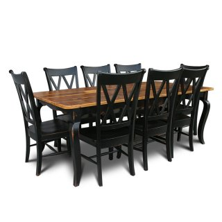 Barnwood Small Curvacious French Table