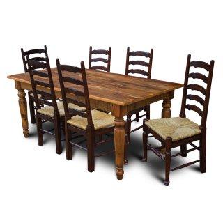 Barnwood Turned Leg Table