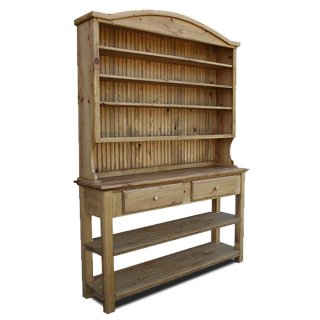 Rustic Bonnet Top Hutch w Open Bottom