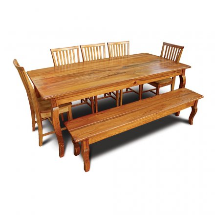 Country French Table w Bench