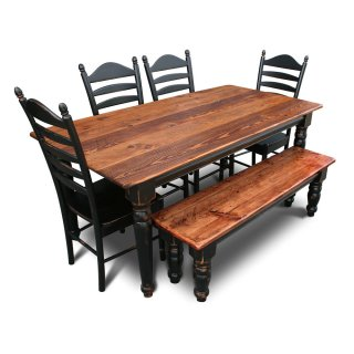 Country Turned Leg Table