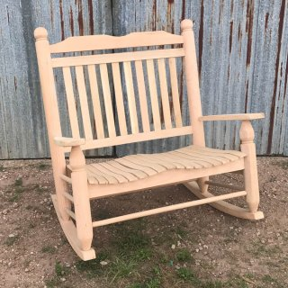 Double Oak Giant Rocker (Two Seater)