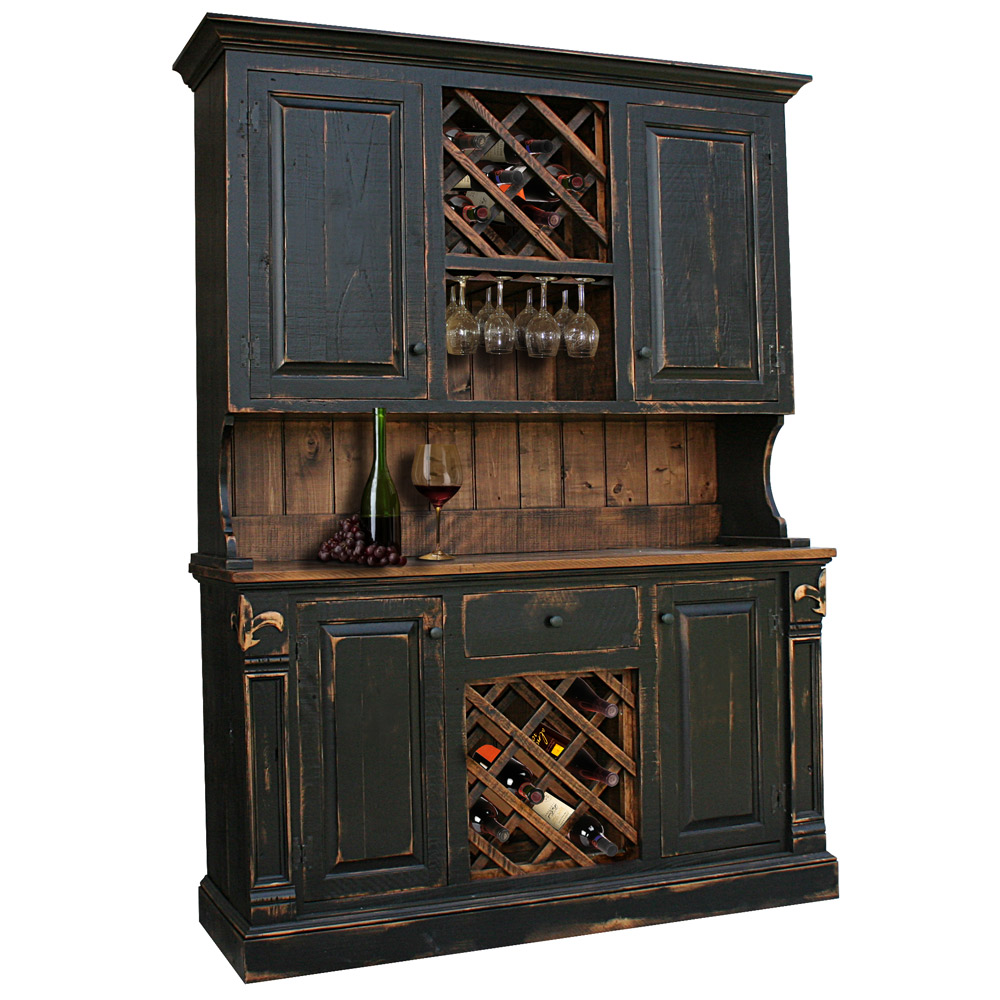 Rustic Kitchen Hutch: Rustic Fleur De Lis Hutch