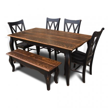 French Table w Bench