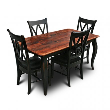 French Table w Black Base