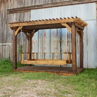 Pine Bedswing and Mini Pergola