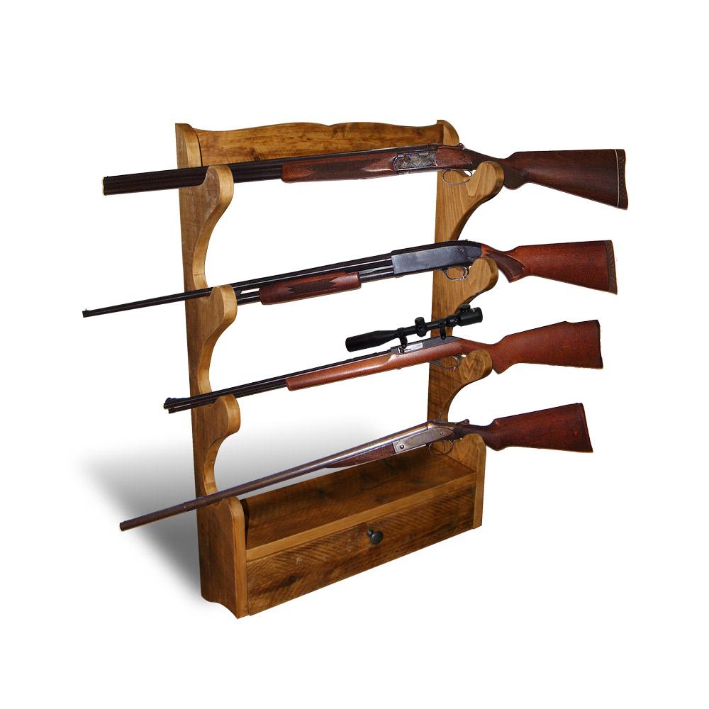 Rustic Gun Rack W Open Back