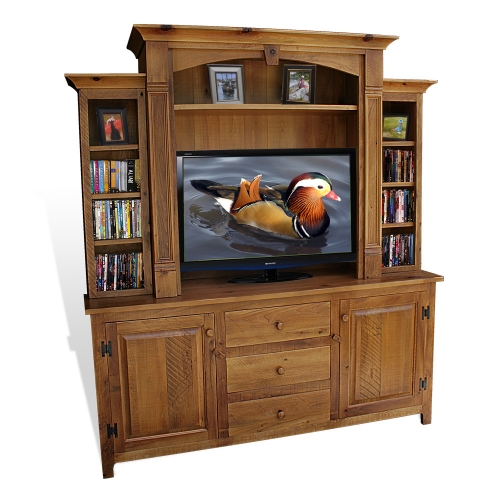 Rustic Shaker Empire 2 Pc TV Stand