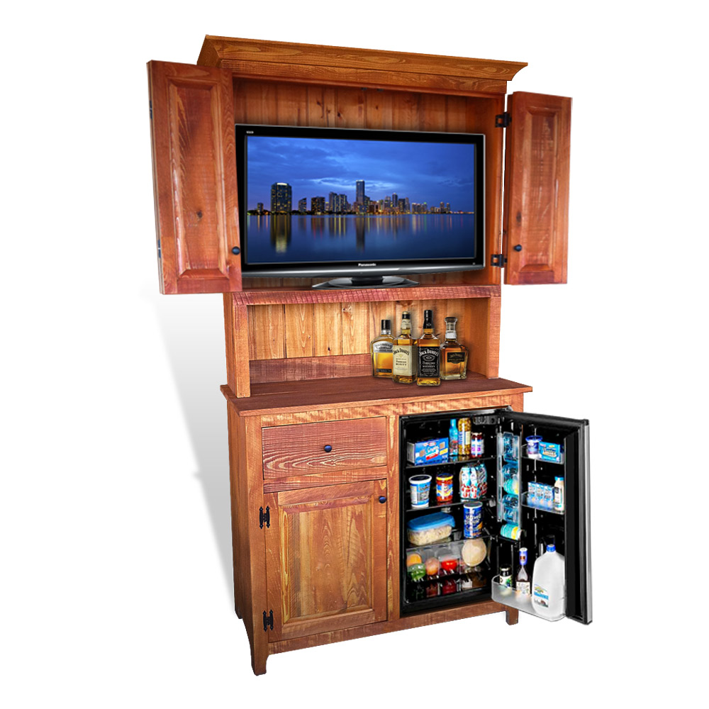outdoor enclosure cabinet bi care tv rustic with fold l wooden door