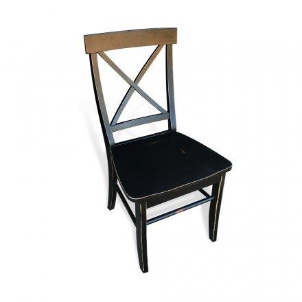 Single X Back Chair