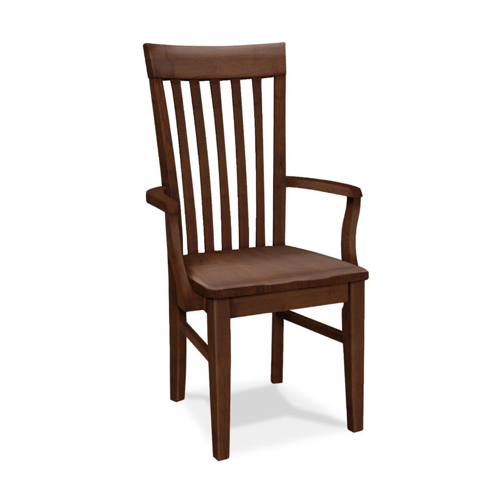 All Wood Dining Room Chairs: Tall Mission Arm Chair C-465AB