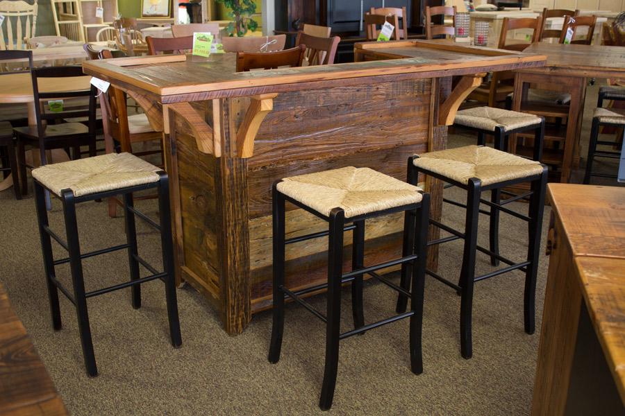 BarnwoodBarinStore ALL Wood Furniture - Barnwood bar table