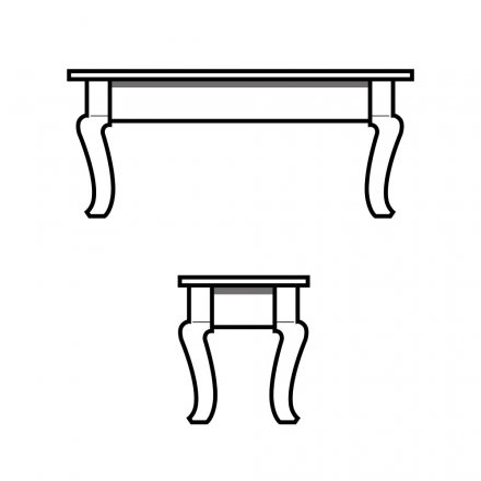 Cabriole Leg Bench