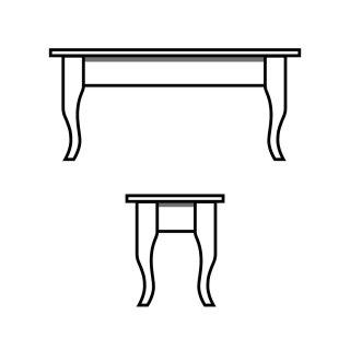 Cabin Leg Table
