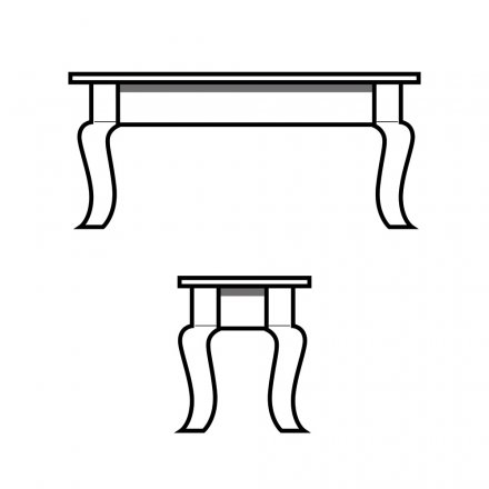 Curvacious French Leg Bench