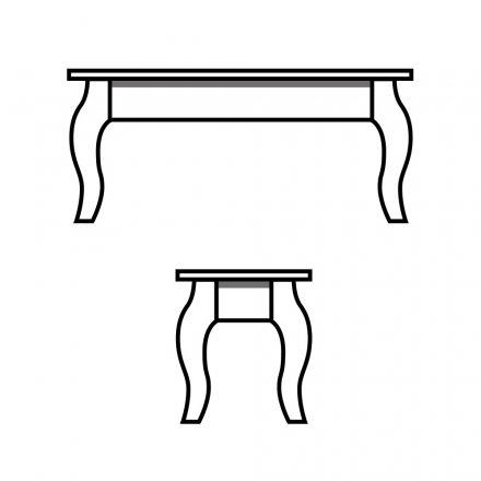 French Leg Bench