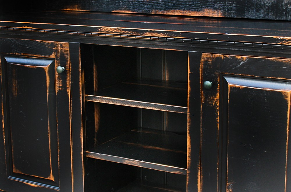 Antiqued Black Finish