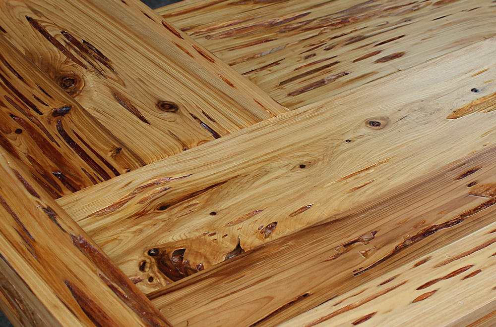 Pecky Cypress Natural Finish With