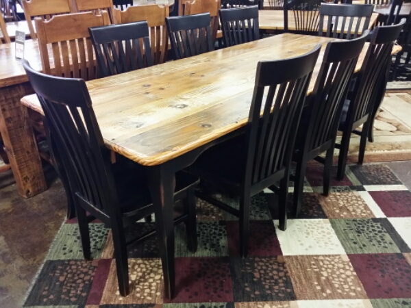 8′ Antique Pine Creole Leg Table @ UL Store UL-04  SOLD