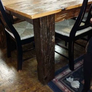 6′ Old Pecky Cypress Table @ UL Store UL-30 SOLD