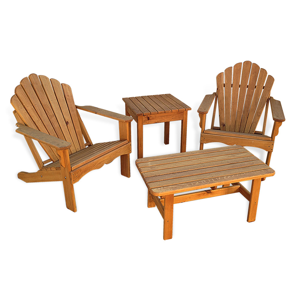 Wood Combo Chair: Adirondack 4 Pc Combo
