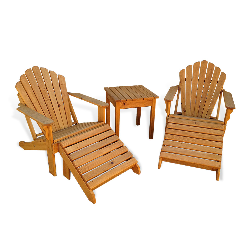 Wood Combo Chair: Adirondack Chair 5 Pc Combo