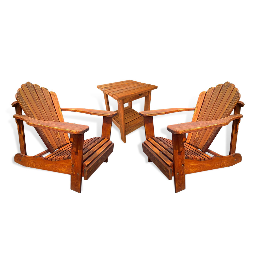 adirondack lake chair combo includes 2ea adirondack lake chairs 1ea 22