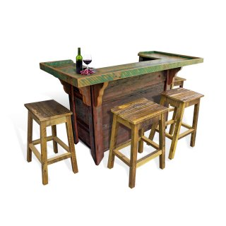 Barnwood Bar With Paint