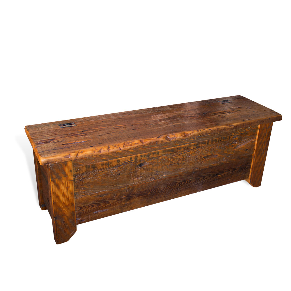 Amazing Barnwood Acadiana Storage Bench Gmtry Best Dining Table And Chair Ideas Images Gmtryco