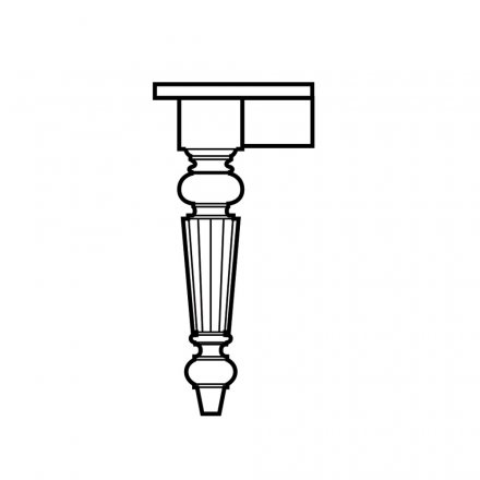 Colonial Fluted Table Leg