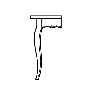 French Table Leg w Bead