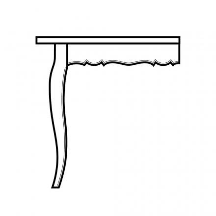 Scroll w Bead Table Skirt