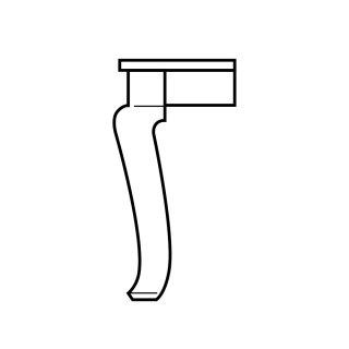 Giant Cabriole Table Leg