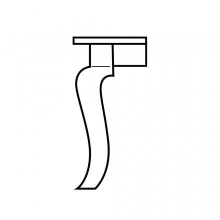 Giant Curvacious Table Leg