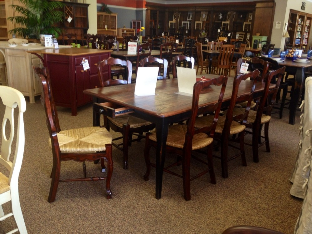 7 Creole Table with Drawers Baton Rouge BR 6 In Stock