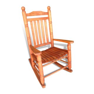 Large Turned Oak Rocker
