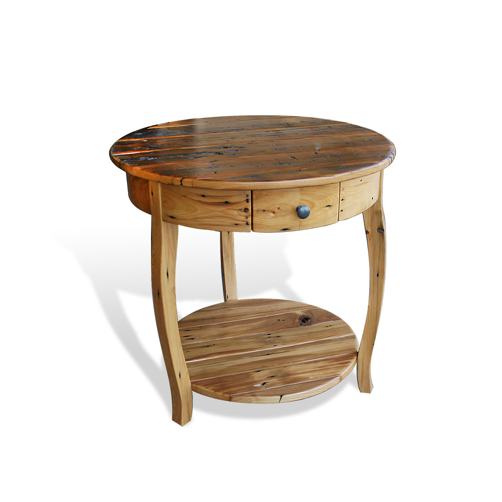 All Wood Coffee Tables ~ Old cypress round coffee table