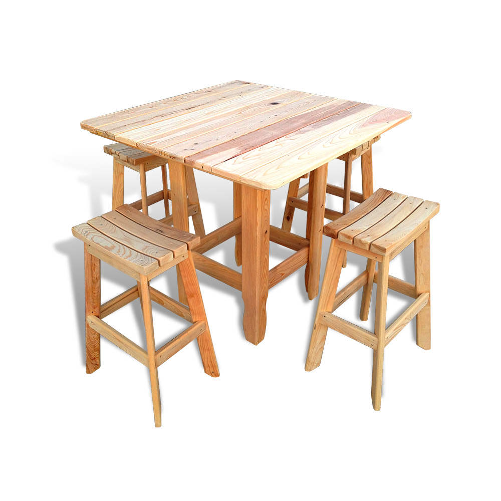 Cypress French Patio Tables No 2