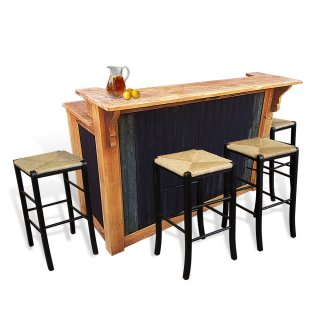 Rustic Bar With Tin