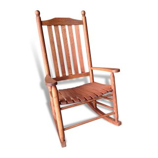 Small Turned Oak Rocker