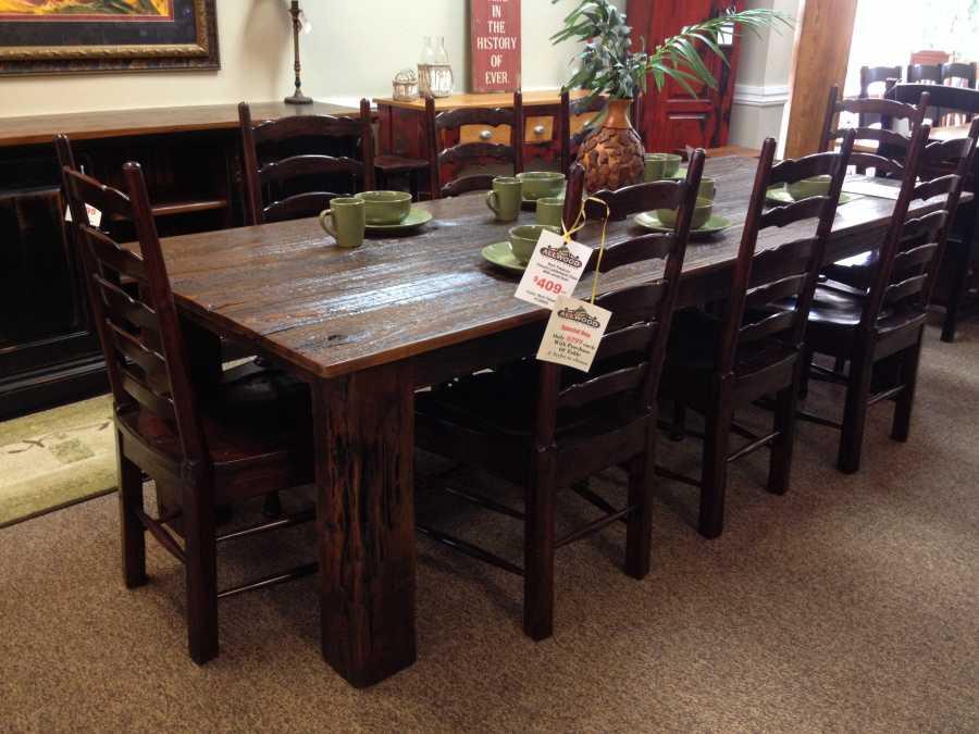 6 X 6 Leg Barnwood Table Baton Rouge Br 13 Sold All