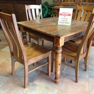 Country Turned Leg Table @ Baton Rouge BR-30 In Stock