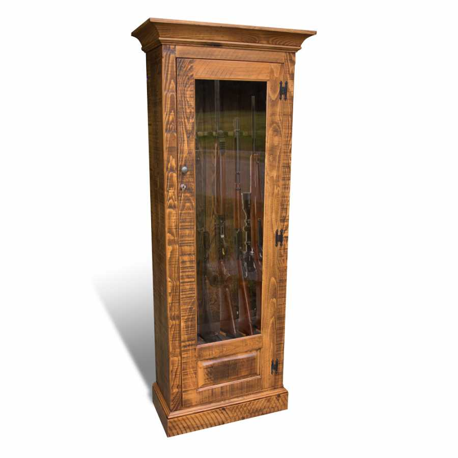 Single Door Rustic Gun Cabinet