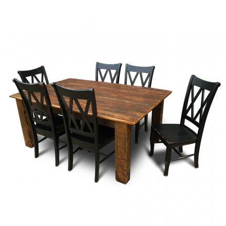 Barnwood 4x6 Leg Table