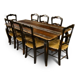 French Table w Barnwood Top
